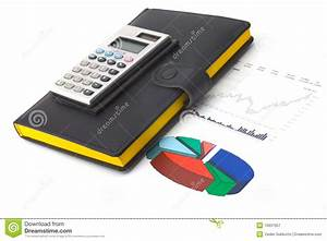 Diagram And Calculator Stock Image  Image Of Earnings