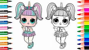 New Unicorn Lol Surprise Doll How To Draw Unicorn Coloring Page Series 3