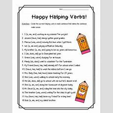 Happy Helping Verbs! Practice Worksheetsubjectverb Agreement  4 Little Baers  Teachers Pay