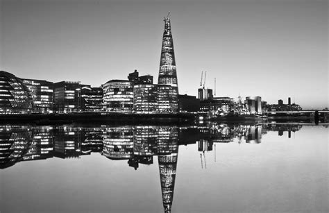 Black And White by The Shard In Black And White Wall Mural Muralswallpaper