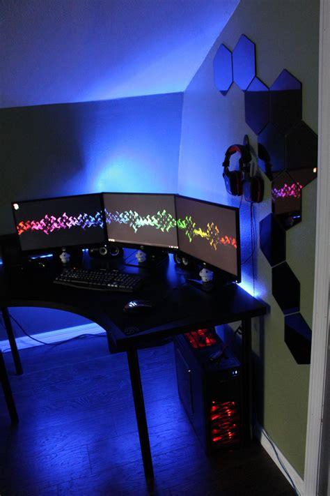 futuristic modern computer desk  bookcase design
