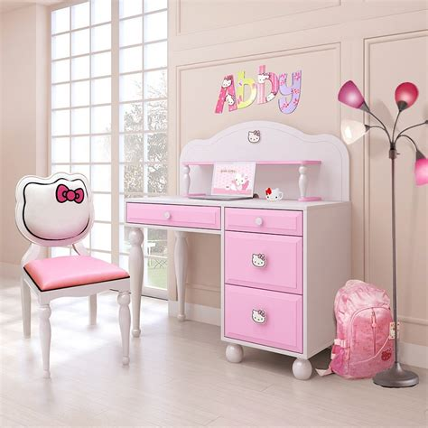 Dreamfurniturem  Hello Kitty Desk W Hutch + Chair. Microwave With Oven Drawer. Table Top For Sale. Mirrored Drawer Pulls. Ashley Furniture Replacement Drawer Pulls