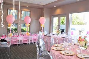 Exciting Image Of Pink Birthday Dining Table Decoration