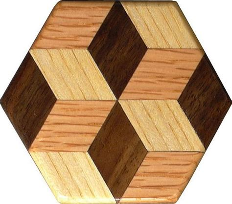 tiny tumbling block pattern weight  wood quilt blocks