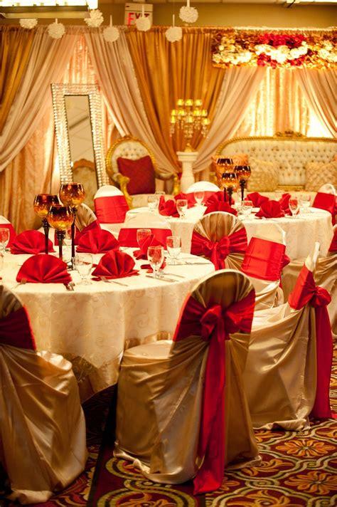 Unique Design & Events: Indian Wedding Decor Red gold