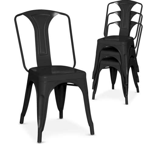 chaise metal noir chaise métal noir brinx lestendances fr