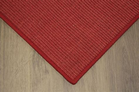 sisal tappeti sisal tappeto rosso 400x500cm 100 agave anelloin loop