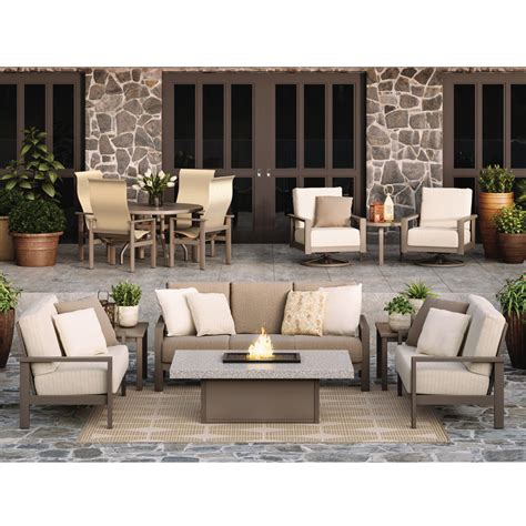 homecrest elements cushion patio sofa pit set hc