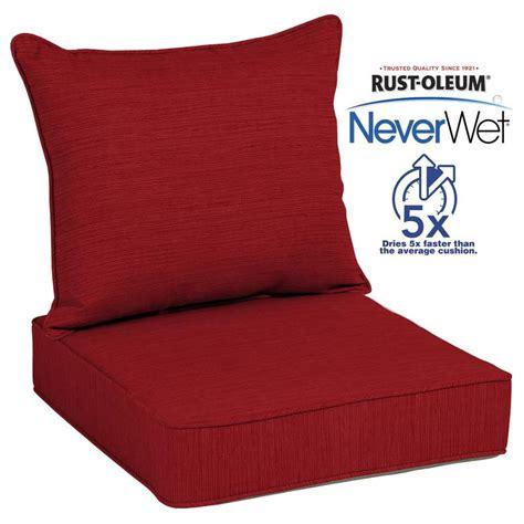 allen and roth patio cushions shop allen roth texture seat patio chair cushion