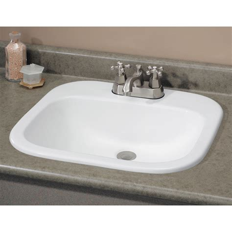 drop in bathroom sinks rectangular shop cheviot ibiza white drop in rectangular bathroom sink