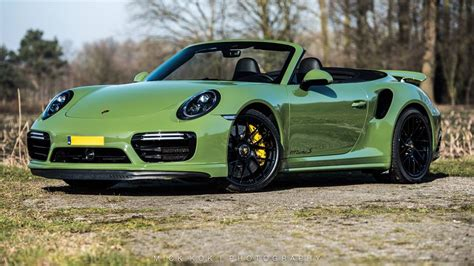 green porsche 911 pts olive green porsche 911 turbo s cabriolet is a