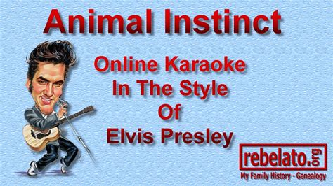 animal instinct elvis presley  karaoke version