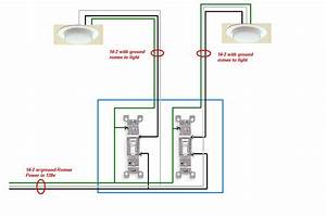 I Need To Find Wiring Diagram For 2 Lights Controlled By 2