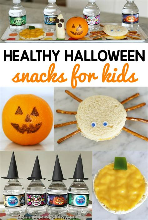 healthy snacks to make healthy halloween snacks for kids coffee cups and crayons