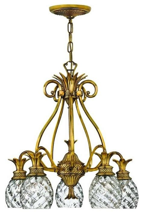 Hawaiian Chandelier by Hinkley Plantation Five Light Chandelier Tropical
