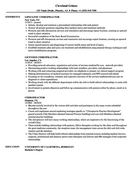 Dosimetrist Description by Chiropractor Resume Sles Velvet