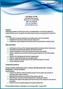 professional icu rn resume sample With icu rn resume