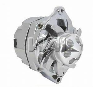 100  New Chrome Alternator For Chevy Gm Hot Rod Billet 3