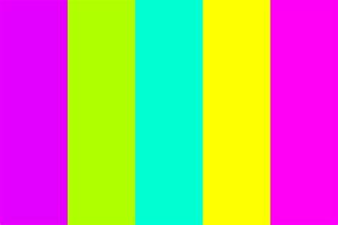 bright color palette bright as neon color palette