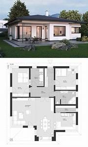 Haus Bauen Ideen Grundriss : design bungalow modern mit walmdach architektur 3 zimmer ~ Orissabook.com Haus und Dekorationen