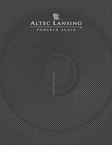 Altec Lansing Speaker System Acs33bw User Guide