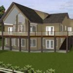 Luxury Hillside House Plans with Walkout Basement New