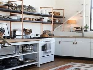 Rustic Kitchen Shelving Ideas Copper Pipe Closet Shelving