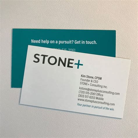 business cards  kim stone cpsm founder  ceo