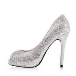 peep toe wedding shoes high heel peep toe rhinestone prom silver wedding shoes cheap flowerweddingshoes