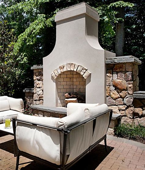 mediterranean style house plans outdoor fireplaces pits in mclean great falls va