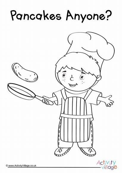 Pancake Colouring Pancakes Anyone Pages Activities Children