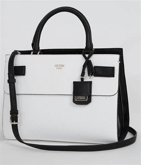 Guess Jordyn Satchel White guess cate purse s bags buckle accessories in