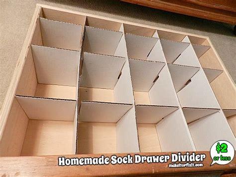 how to make drawer dividers sock drawer divider