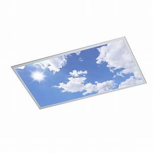Pavé Led 600x600 : dalle led ciel bleu pour puit de lumi re ~ Edinachiropracticcenter.com Idées de Décoration