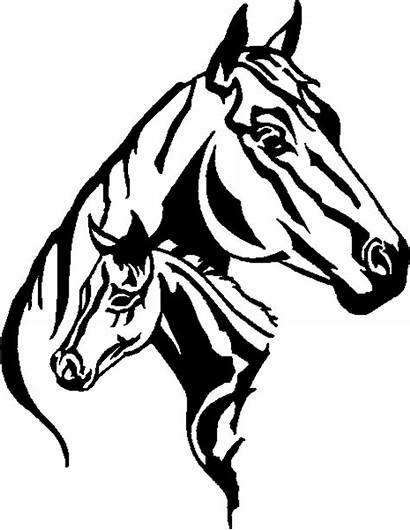 Horse Mare Clip Foal Silhouette Patterns Pattern