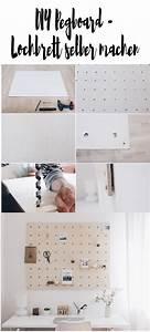 Pegboard Selber Bauen : diy lochbrett pinnwand selber machen d i y s pinnwand ~ Watch28wear.com Haus und Dekorationen