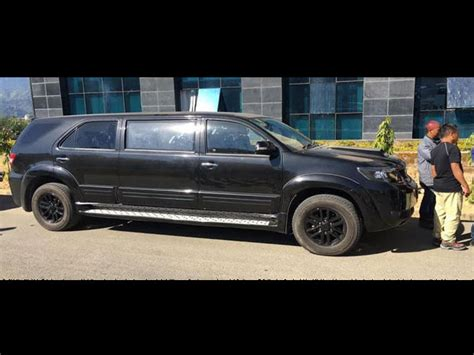 Toyota Fortuner Modification by Toyota Fortuner Modified Into A Limousine Drivespark News