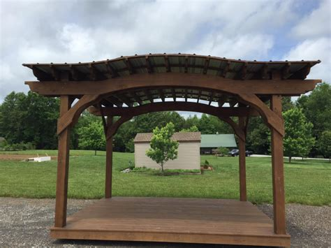 pergola flooring 10 215 12 arch pergola with roof floor tennessee pergolas playsets storage sheds by