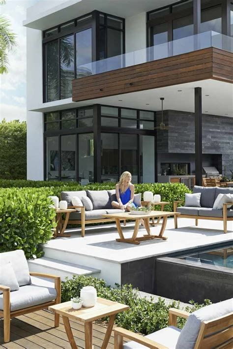 idee jardin  terrasse creer  salon de jardin convivial
