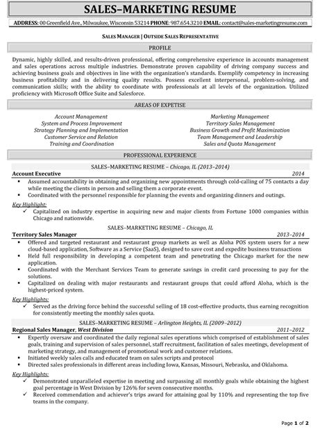 Sle Of Resume Doc by Outside Sales Resume Template Resume Builder