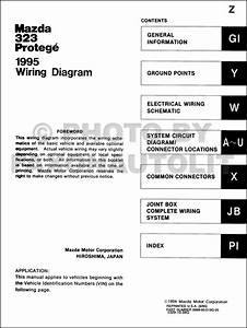 1995 Mazda 323 And Protege Wiring Diagram Manual Original