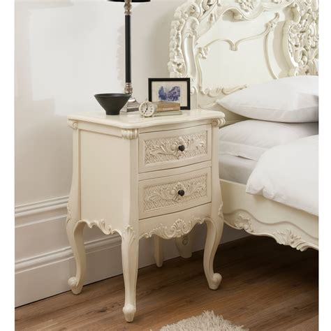 27617 bedroom side tables bordeaux ivory 2 drawer antique bedside available now