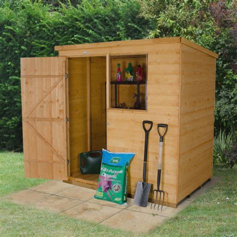 shed b and q 6x4 pent shiplap wooden shed base included departments