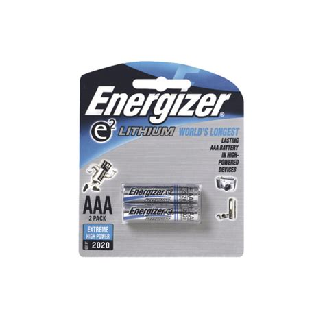 NEW Energizer AAA Battery Lithium Battery AAA 2 Pack AAA