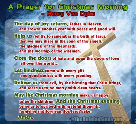 prayers for christmas morning