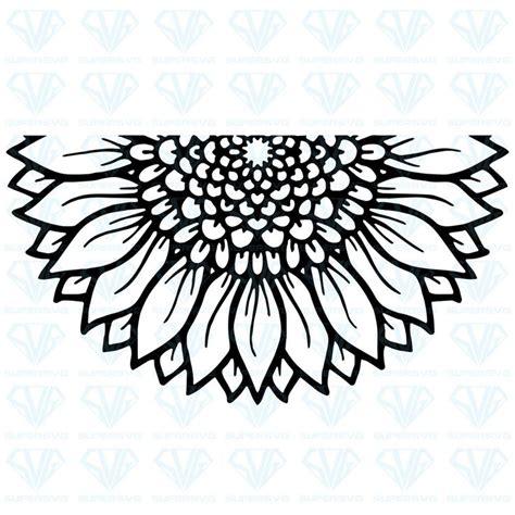 mandala sunflower svg files  silhouette files  cricut svg dxf eps png instant