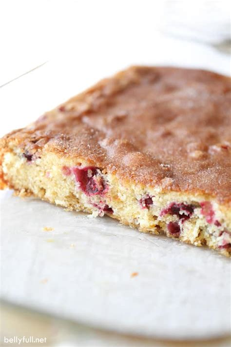 Coffee cake that has crossed your palate before it. Cranberry Cinnamon Coffee Cake - Belly Full