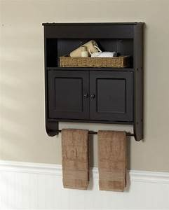 Small Wood Wall Mounted Bathroom Storage Cabinet With Door