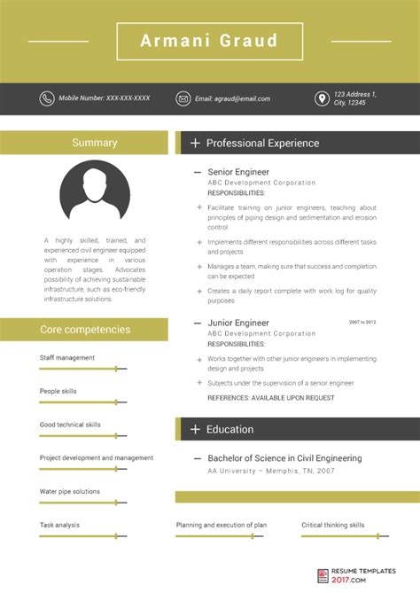 Engineering Resume Templates by Engineering Resume Templates Can Help You Avoid Mistakes In Cv
