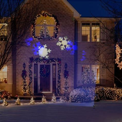 christmas falling snow projectors save 5 gemmy lightshow white snowflurry projector now only 20 lowes ca expired